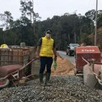 Tinjau Beberapa Proyek Jalan, Wabup Lingga Temukan Beberapa Masalah